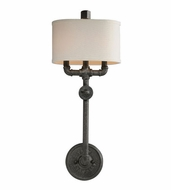 Troy B3811 Conduit Vintage Old Silver Finish 26.5 Tall Wall Lamp