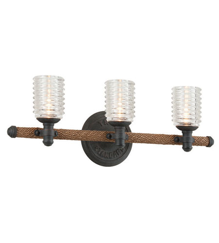 "Troy B4153 Embarcadero 9"" Tall 3-Light Bathroom Sconce ..."