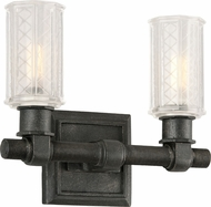Troy B4232 Vault Wrought Iron Aged Pewter 2-Light Bathroom Lighting