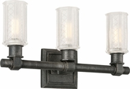 Troy B4233 Vault Wrought Iron Aged Pewter 3-Light Lighting For Bathroom