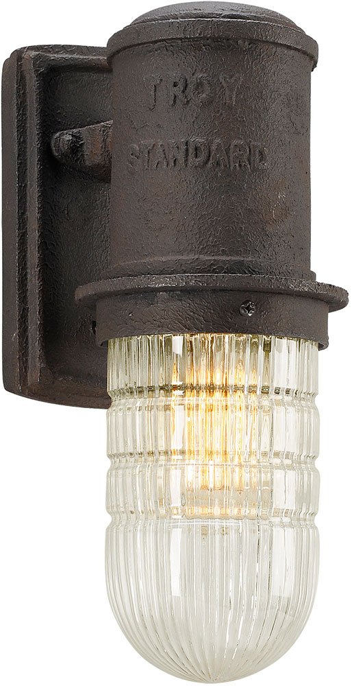 Troy B4341 Dock Street Vintage Cast Aluminum Outdoor Lighting Sconce Tro B4341