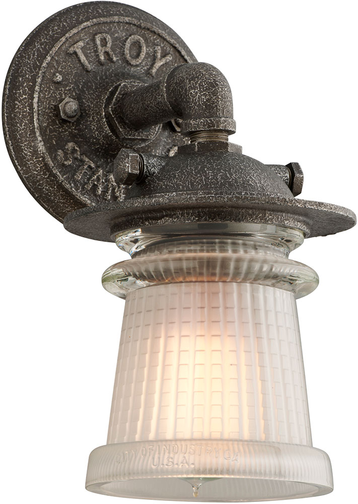 Troy B4351 Pearl Street Vintage Solid Aluminum Outdoor Wall Sconce Lighting Loading Zoom