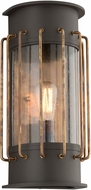 Troy B4663 Cabot Vintage Aluminum With Brass Accents Exterior Wall Light Sconce