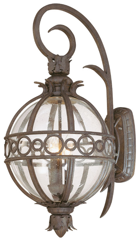 Troy B5003cb Campanile Outdoor Tropical Large 28 Inch Tall Bronze Wall Light Fixture