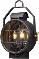 Troy B5032 Point Lookout Nautical Aged Silver With Polished Brass Accents Exterior Lamp Sconce