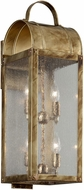 Troy B5093HB Bostonian Historic Brass Outdoor Large Lamp Sconce