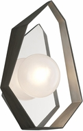Troy B5531 Origami Contemporary Graphite With Silver Leaf LED Wall Sconce Lighting