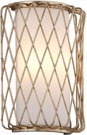 Troy B5631 Hideaway Contemporary Champagne Leaf LED Wall Lighting Sconce