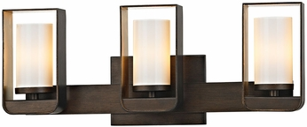 Troy B5703 Escape Contemporary Bronze w/ Gold Leaf Accent LED 3-Light Bath Light Fixture