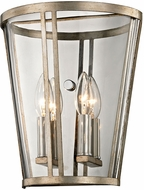 Troy B5842 Trapeze Contemporary Champagne Silver Leaf Wall Sconce Lighting