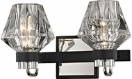 Troy B5882 Faction Contemporary Forged Iron And Polished Nickel 2-Light Bathroom Sconce Lighting