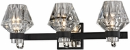 Troy B5883 Faction Modern Forged Iron And Polished Nickel 3-Light Bath Lighting Sconce