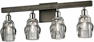 Troy B6004 Citizen Contemporary Graphite And Polished Nickel 4-Light Bath Lighting