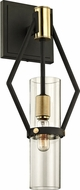 Troy B6311 Raef Contemporary Textured Bronze Brushed Brass 7 Wall Sconce Light