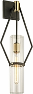 Troy B6312 Raef Modern Textured Bronze Brushed Brass 9.5 Wall Sconce