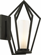 Troy B6341 Whitley Heights Contemporary Black Outdoor 11  Light Sconce