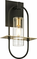 Troy B6391 Smyth Modern Dark Bronze &�Brushed Brass Outdoor 8  Sconce Lighting