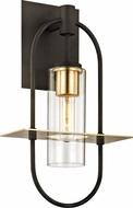 Troy B6392 Smyth Contemporary Dark Bronze &�Brushed Brass Exterior 10  Light Sconce
