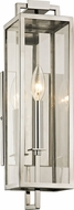 Troy B6531 Beckham Contemporary Stainless Exterior 16.5 Wall Lighting Sconce