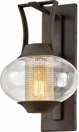 Troy B7022 Horton Modern Texture Bronze Outdoor 11  Lamp Sconce
