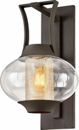 Troy B7023 Horton Contemporary Texture Bronze Exterior 14.25  Wall Sconce Lighting