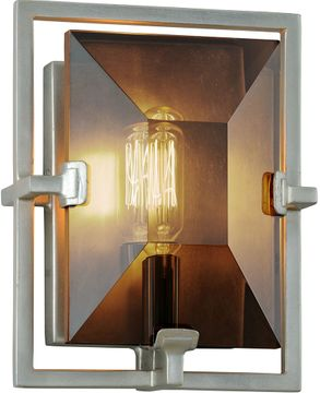 Troy B7092 Prism Modern Silver Leaf Sconce Lighting