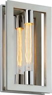 Troy B7101 Enigma Contemporary Silver Leaf w/ Stainless Accents Light Sconce