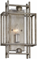 Troy B7131 Crosby Contemporary Antique Silver Leaf Lamp Sconce