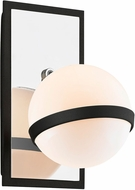 Troy B7161 Ace Contemporary Carbide Black w/ Polished Nickel Accents Wall Lighting Sconce