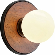Troy B7641 Cadet Black and Natural Acacia LED Wall Lighting
