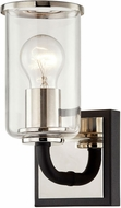 Troy B7681 Aeon Carbide Black and Polished Nickel Light Sconce