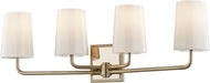Troy B7694 Simone Silver Leaf and Polished Nickel 4-Light Bathroom Wall Sconce