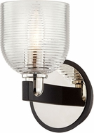 Troy B7711 Munich Carbide Black and Polished Nickel Lamp Sconce