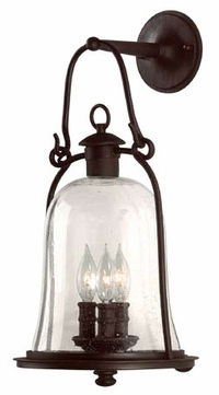 Troy B9463NB Owings Mill Outdoor Wall Sconce - 10 inches wide