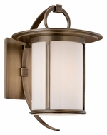 Troy BF3241 Wright Fluorescent Opal Glass 10 Inch Tall Outdoor Small Wall Lamp