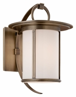 Troy BF3242 Wright Medium Transitional 13 Inch Tall Brass Exterior Wall Sconce - Fluorescent
