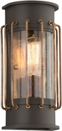 Troy BF4661 Cabot Retro Aluminum With Brass Accents Fluorescent Exterior Lighting Sconce