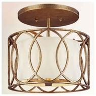 Troy C1283 Sausalito Wrought Iron Semi-Flush Ceiling Light