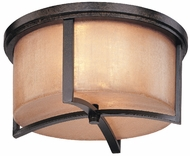 Troy C1742-ABZ Austin 2 Light 14.75 inches wide Wrought Iron Flushmount Ceiling Fixture