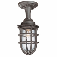 Troy C1863NR Wilmington Small Outdoor Nautical Flush-Mount Ceiling Light