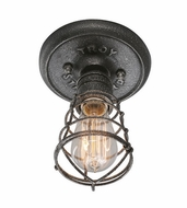 Troy C3810 Conduit Retro Old Silver Finish 8.25 Tall Ceiling Lighting