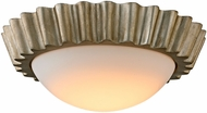 Troy C5920 Reese Modern Silver Leaf LED Flush Mount Light Fixture