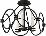 Troy C5953 Juliette Contemporary Country Iron Overhead Light Fixture