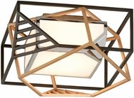 Troy C6080 Cubist Contemporary Bronze w/ Gold Leaf And Polished Stainless LED Ceiling Lighting
