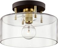 Troy C7541 Bergamot Station Bronze and Brass 12.25  Overhead Lighting