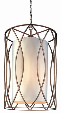 Troy F1288SG Sausalito Wrought Iron 34.75 inches Foyer Fixture
