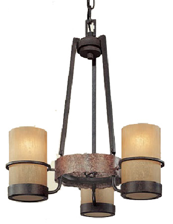 Troy F1845bb Bamboo 3 Light Wrought Iron Mini Chandelier Loading Zoom