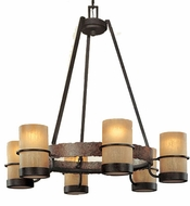 Troy F1846BB Bamboo 6 Light Wrought Iron Chandelier