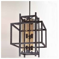 Troy F2494FI Crosby 8-light Wrought Iron Foyer Light