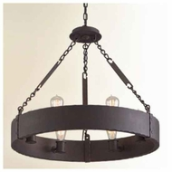 Troy F2503CB Jackson 6-light Wrought Iron Chandelier